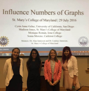 Four students about to give a presentation