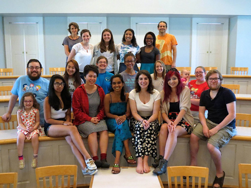 Student group in a classroom