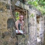 liza gijanto in the field studying ruins