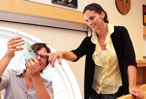 Professor Liza Gijanto in the classroom