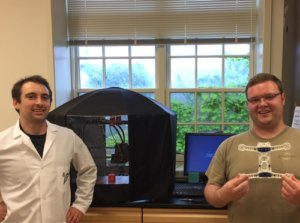 Dr. Townsend and SMCM student David Gerrish