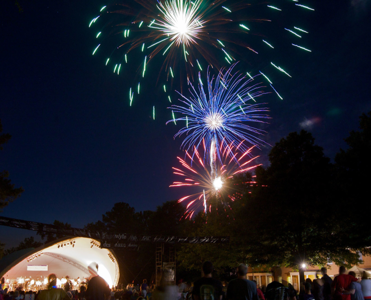 Fireworks at the River Concert Series