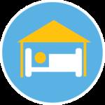 Student Quarantine & Isolation bed icon