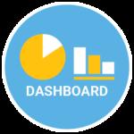 COVID-19 Dashboard graph icon