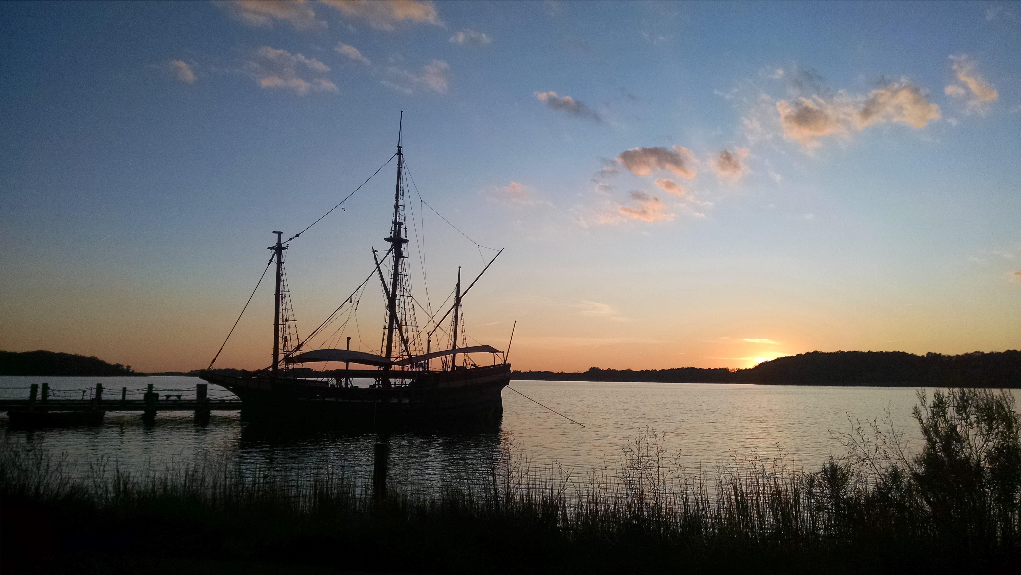 The Dove ship docked at Historic St. Mary's City