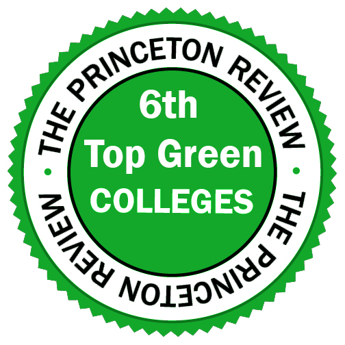 """6th Top Green College"" badge from Princeton Review"