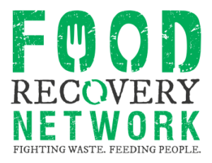 """green logo stating """"Food Recovery Network: Fighting Waste, Feeding People"""""""