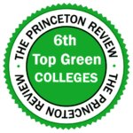 """""""6th Top Green College"""" badge from Princeton Review"""