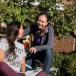 SMCM Students outside Schaefer Hall