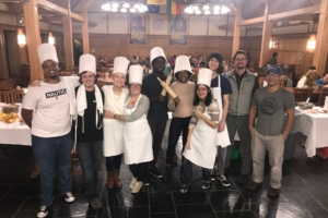 green chef contestants and judges group photo