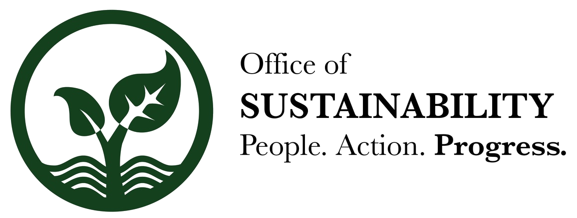 Office of Sustainability: People, Action, Progress, logo