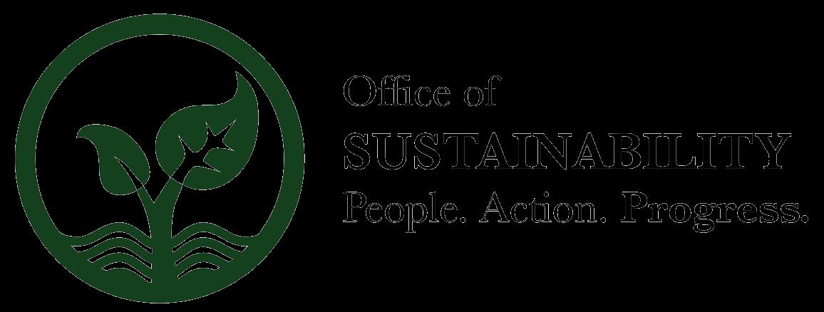 Office of Sustainability: People, Action, Progress, logo
