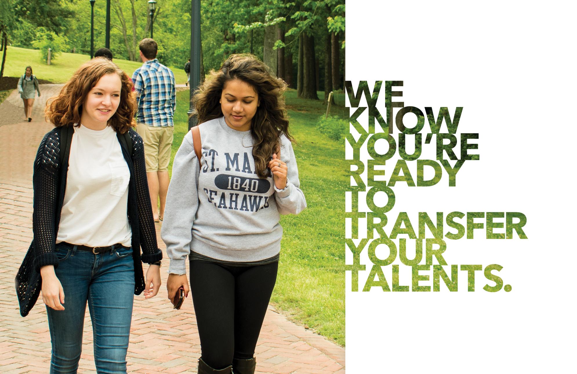 two girls walking to class