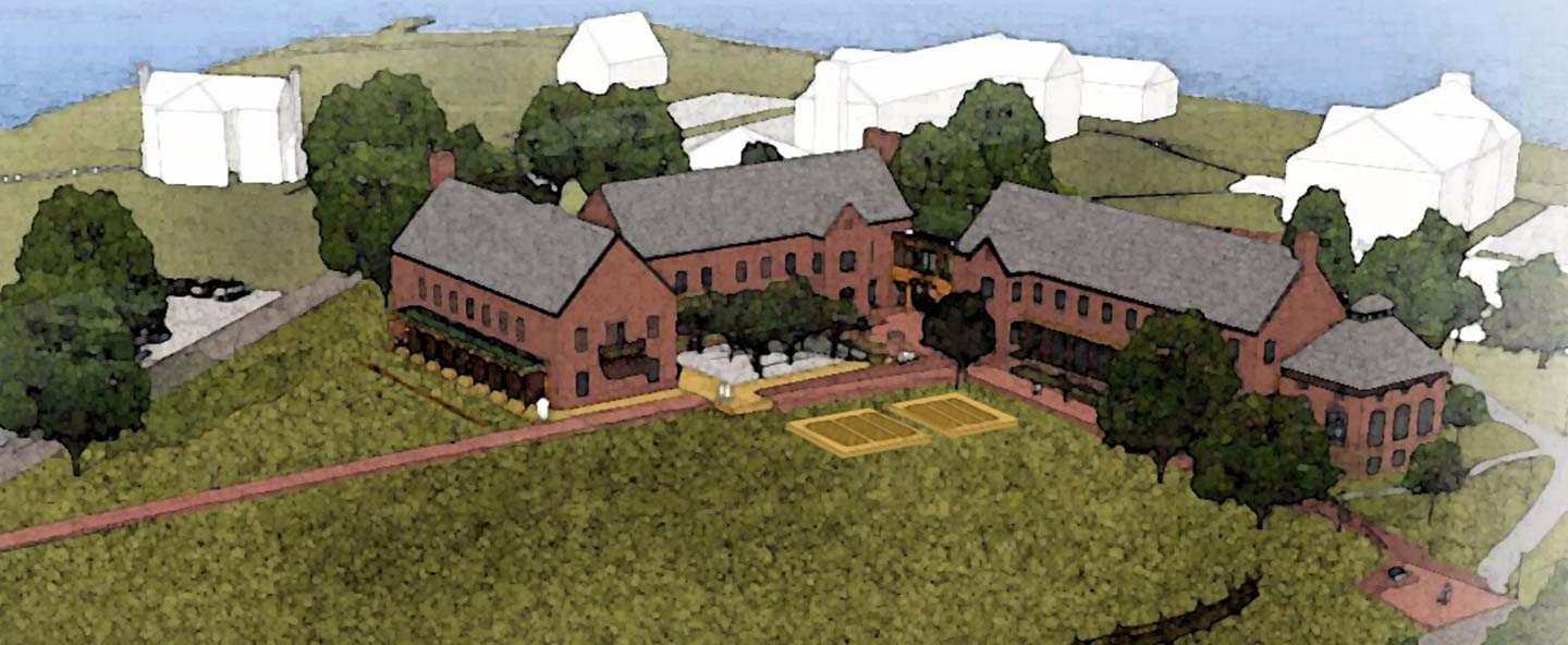 Artist rendering of Anne Arundel Hall Construction Project