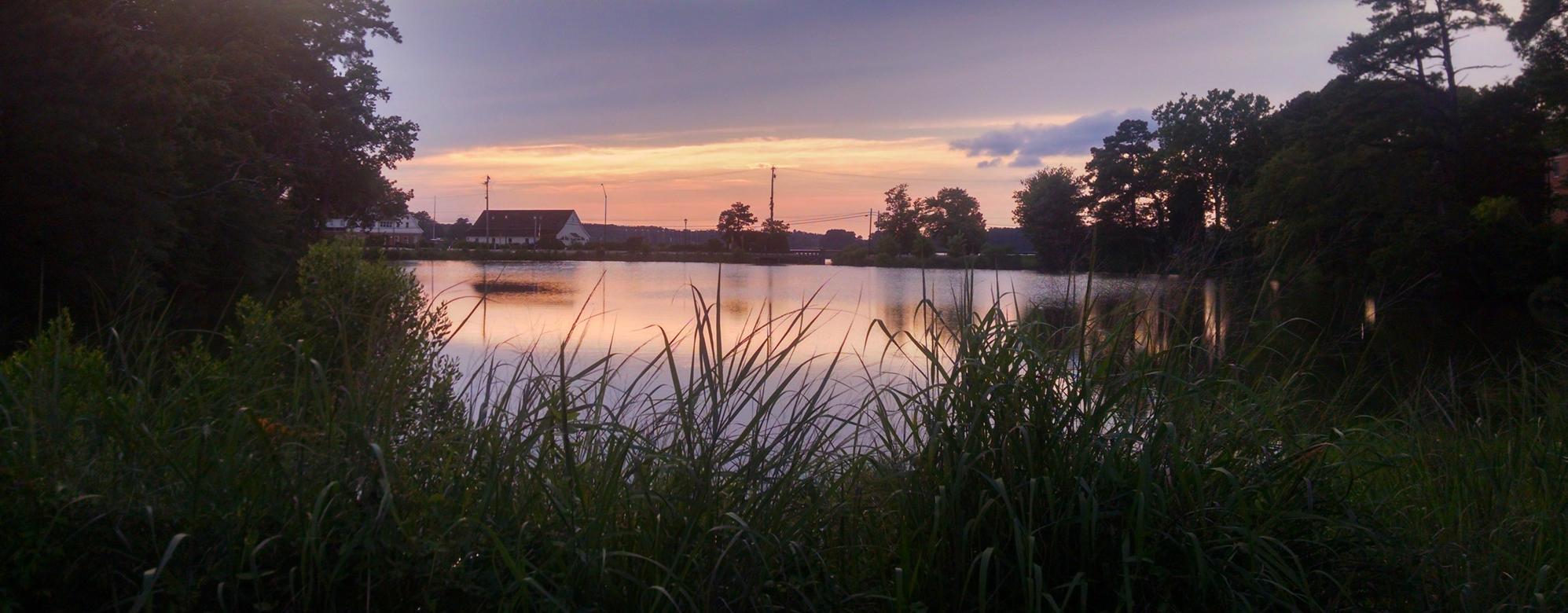 St. John's Pond at sunset, July 2017