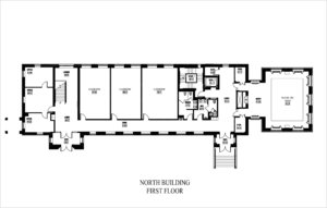 Anne Arundel Hall North Building First Floor Plan