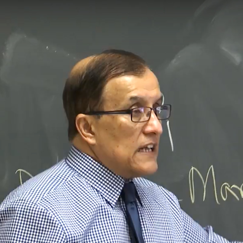 Professor Sahar Shafqat in the classroom