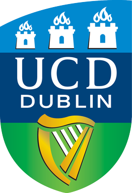 University College Dublin logo, By Source (WP:NFCC#4), Fair use, https://en.wikipedia.org/w/index.php?curid=48389306