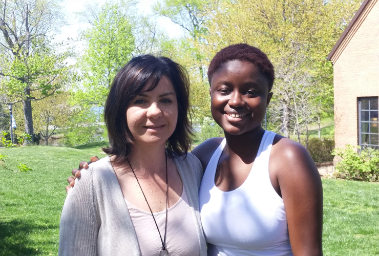 Fatima Dainkeh with her faculty mentor, Betül Başaran